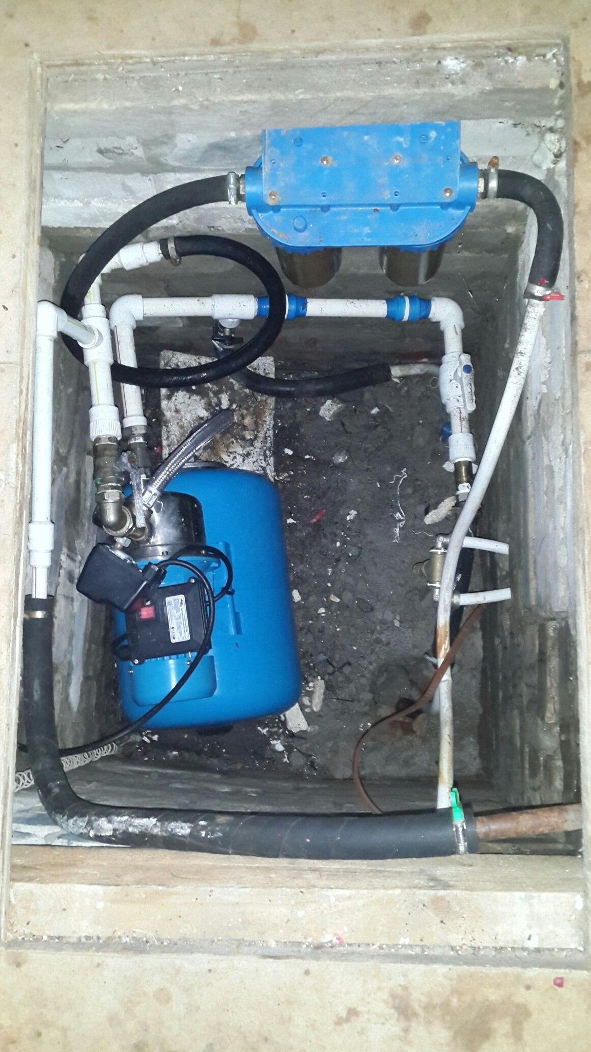 Система из нескольких скважин, фильтров  и насосной станции
